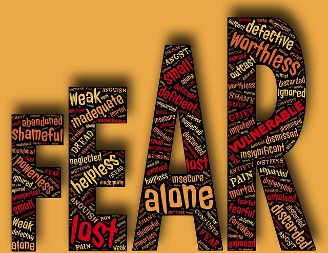 Fear, 怖い、恐れ、恐怖